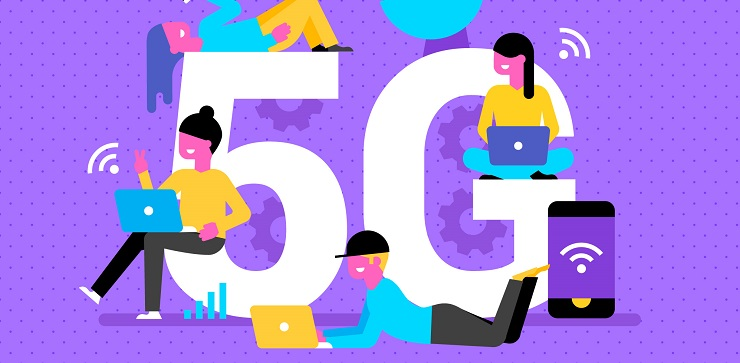 5G network vector image